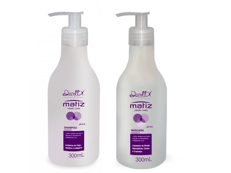 Kit Shampoo  300 ml e Mascara  300 ml  Matiz Home Care  Dwell'X