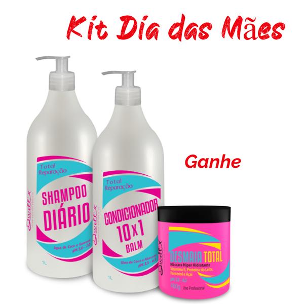 Kit Total Reparação - Uso Diario 1 Shampoo , 1 Condicionador   Dwell'x
