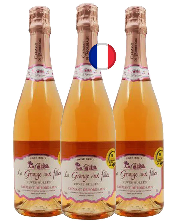 Kit Espumante Rosé Brut La Grange Aux Filles