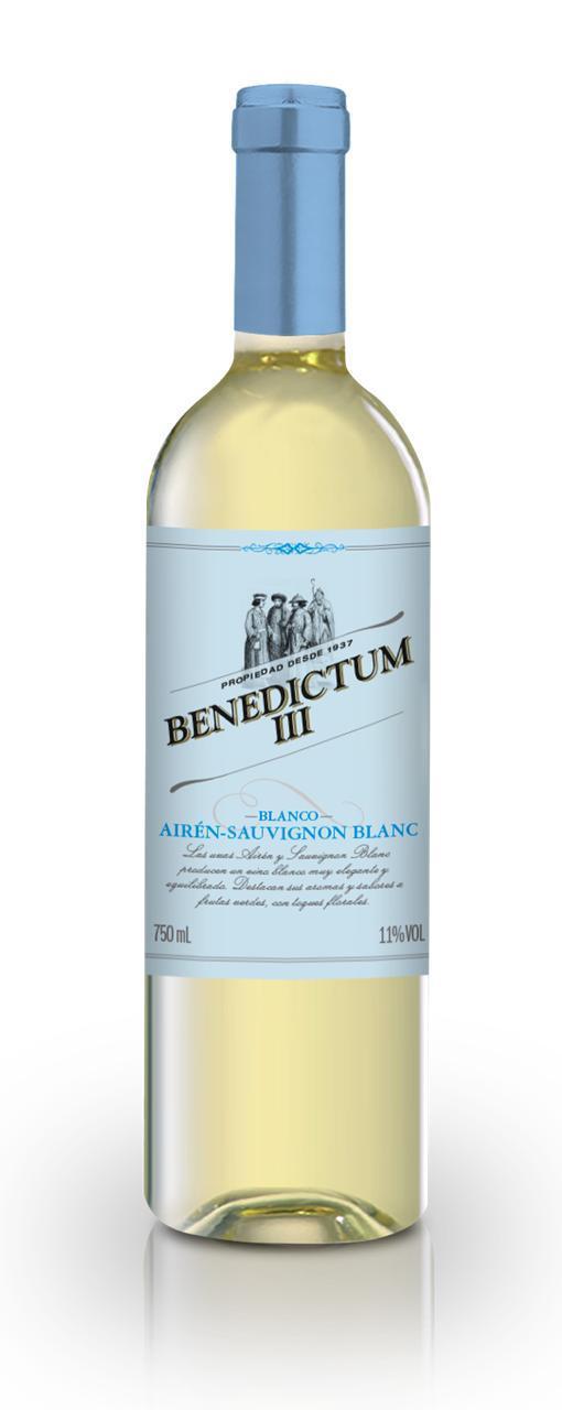 Vinho Branco Benedictum III Airén Sauvignon Blanc