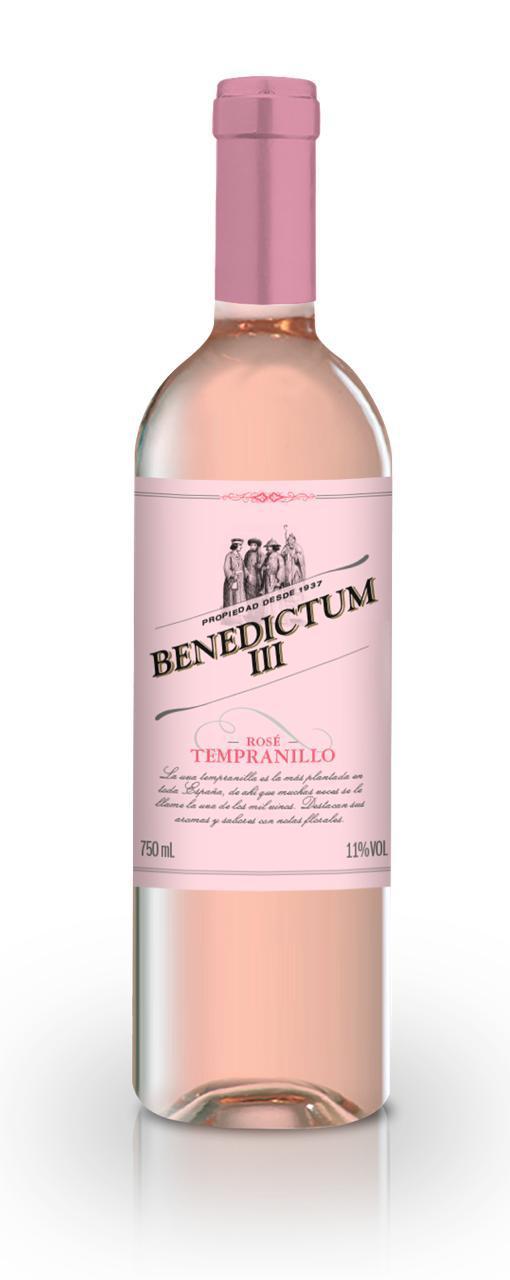 Vinho Rosé Benedictum III Tempranillo