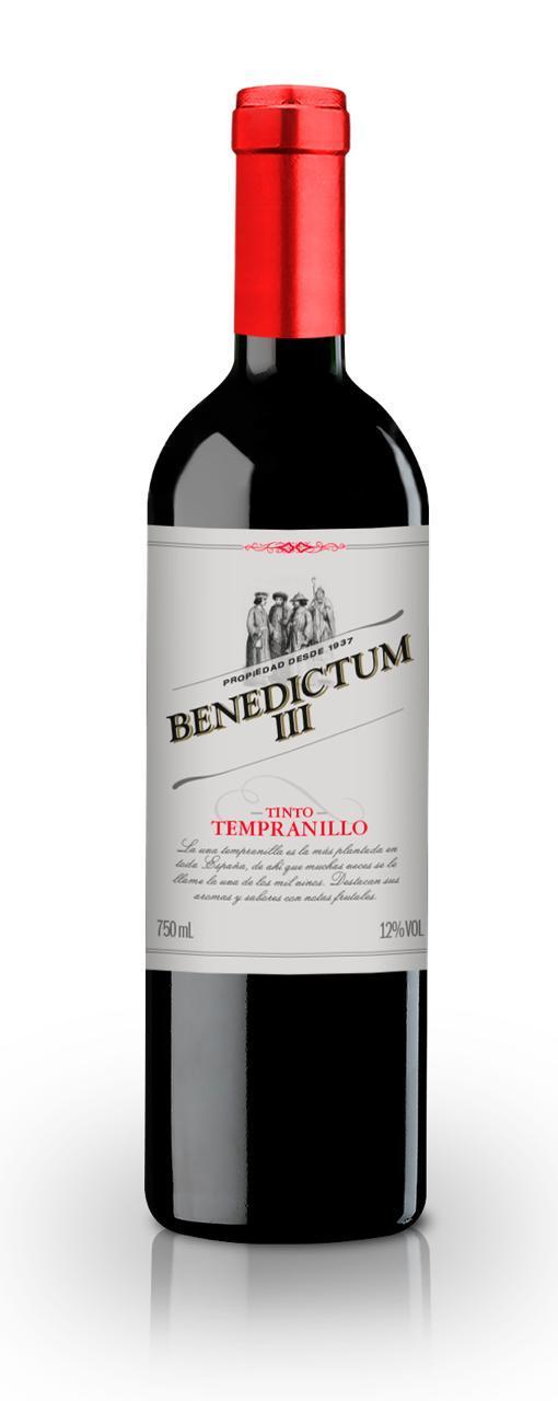 Vinho Tinto Benedictum III Tempranillo 2016