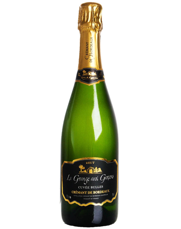 Vinho Espumante Branco Brut La Grange Aux Garçons A.O.C. Crémant de Bordeaux Cuvée Bulles