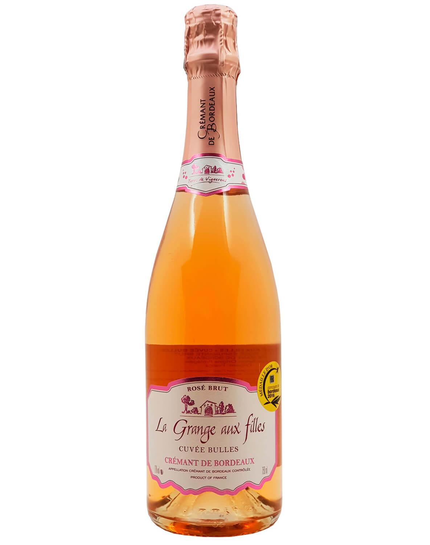 Vinho Espumante Rosé Brut La Grange Aux Filles A.O.C. Crémant de Bordeaux Cuvée Bulles