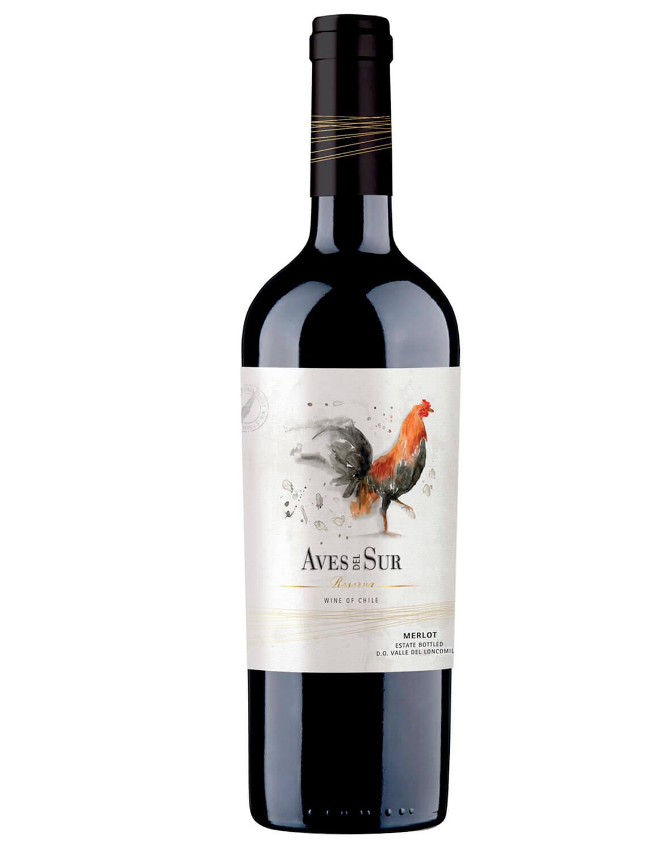 Vinho Tinto Aves Del Sur Reserva Merlot 2018