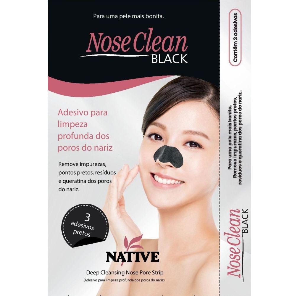 Nose Clean Black - Adesivo para Nariz (com 3 Unidades)