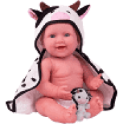 Boneca Bebê Boutique Berenguer Vaquinha - Cotiplás