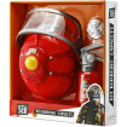 Brincando de Ser Kit Bombeiro Capacete - Multilaser