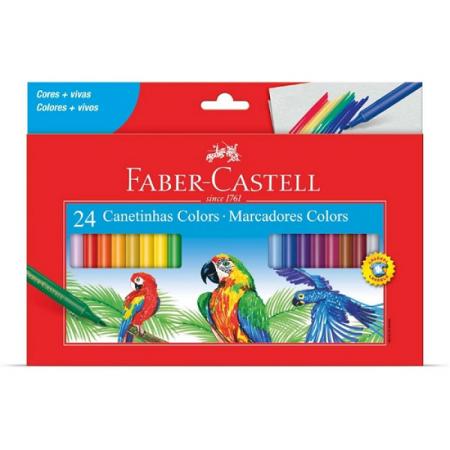 Canetinha Hidrográfica 24 Cores Lavável - Faber-Castell