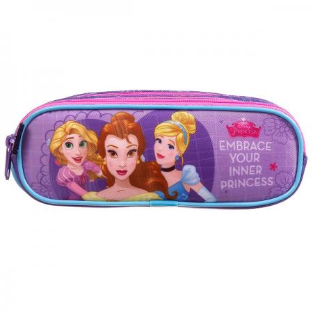 Estojo Soft 3 Divisões Princesas Disney
