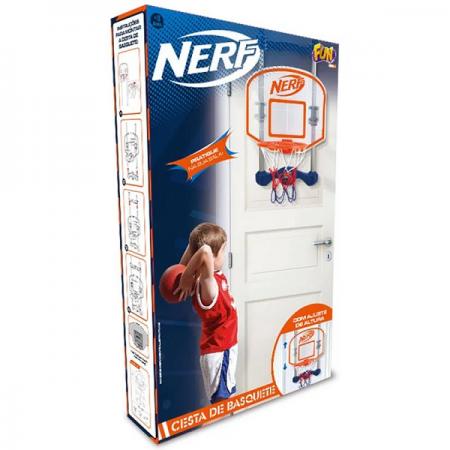 Nerf Cesta de Basquete com Contador Eletrônico - Fun
