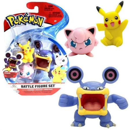 Pokémon 3 Figuras de Ação Sortidas - Sunny