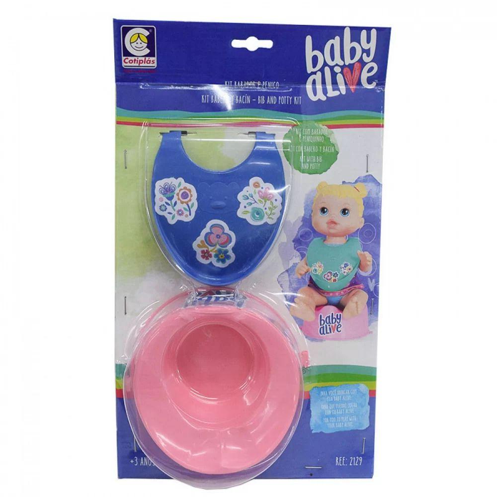 Baby Alive Kit Babador e Pinico - Cotiplás