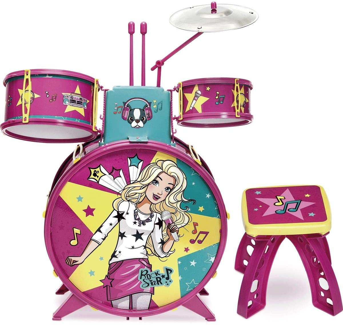 Bateria Infantil Fabulosa da Barbie - Mattel