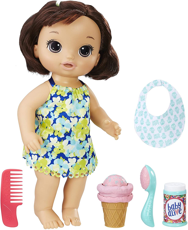 Boneca Baby Alive Sorvetinho Mágico Morena - Hasbro