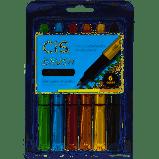 Caneta Pincel Brush Metálico com 6 Cores - Cis