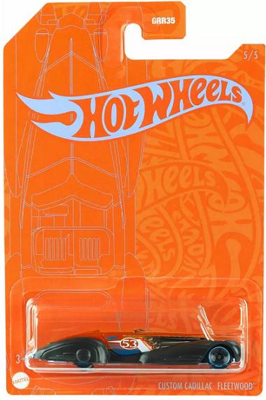 Carrinho Hot Wheels Laranja e Azul 1:64 Especial 53 anos - Mattel