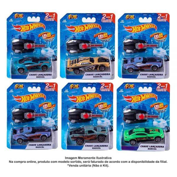 Hot Wheels Carro Com Chaveiro Lançador Color Shift - Mattel