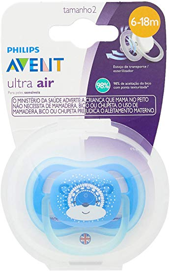 Chupeta Ultra Air Urso Azul - Avent