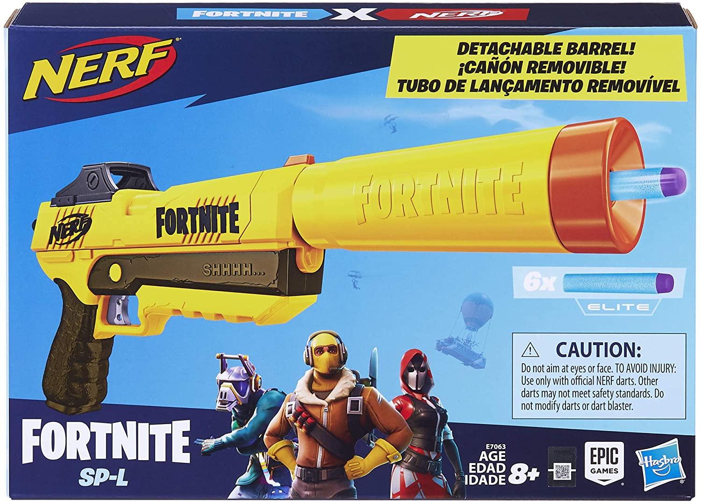 Nerf Fortnite SP-L Com Silenciador - Hasbro
