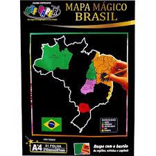 Mapa do Brasil Raspadinha com Bastão A4