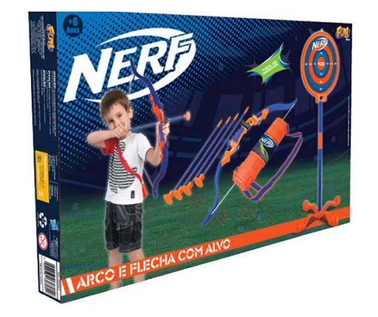 Nerf Arco e Flecha com Alvo - Fun