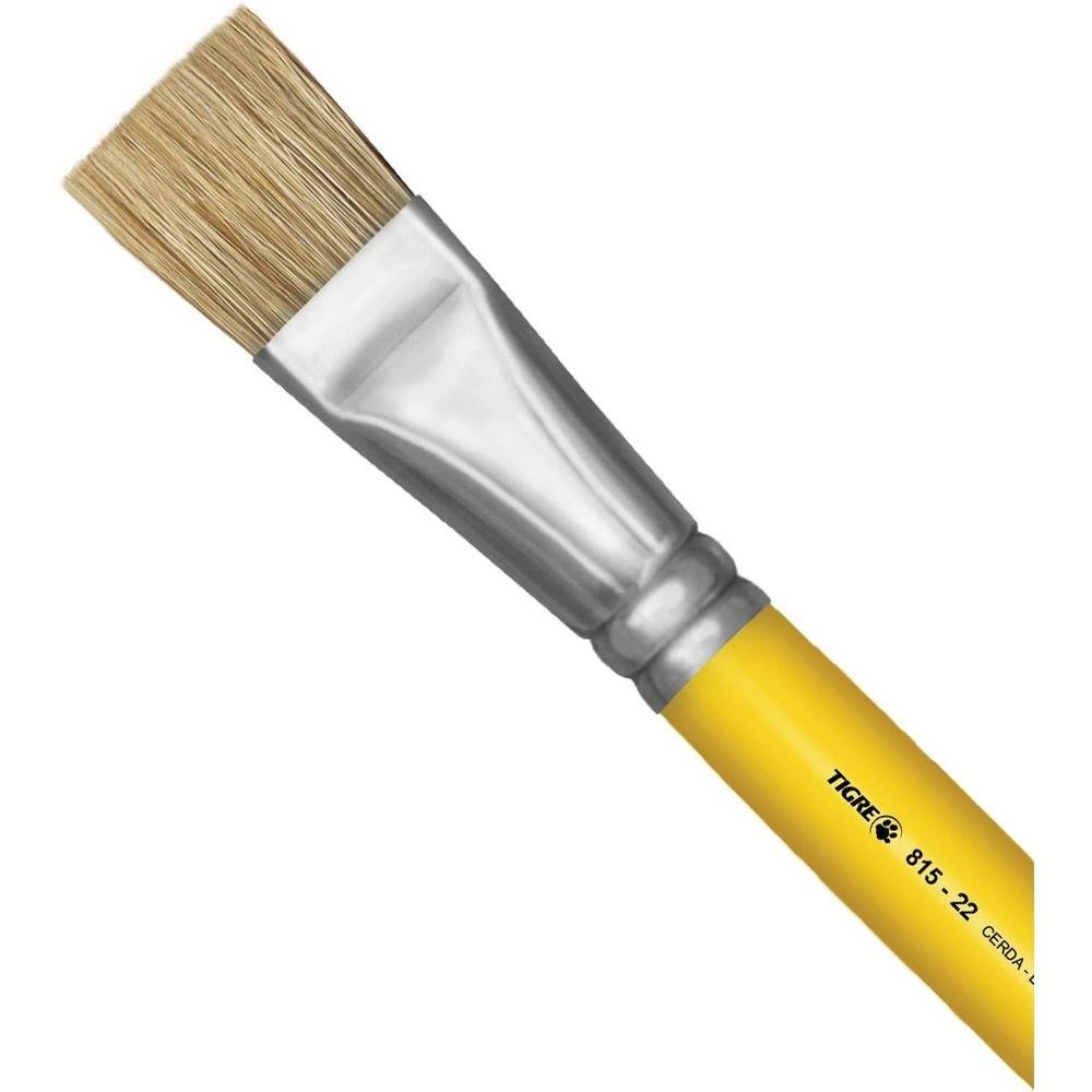 Pincel Artesanal Chato 815 n.22 Amarelo