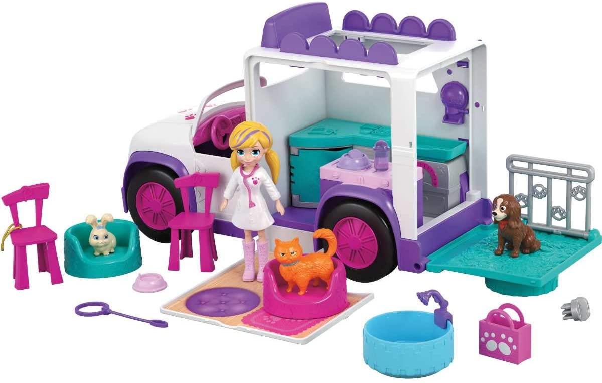 Polly Pocket Hospital Móvel dos Bichinhos - Mattel