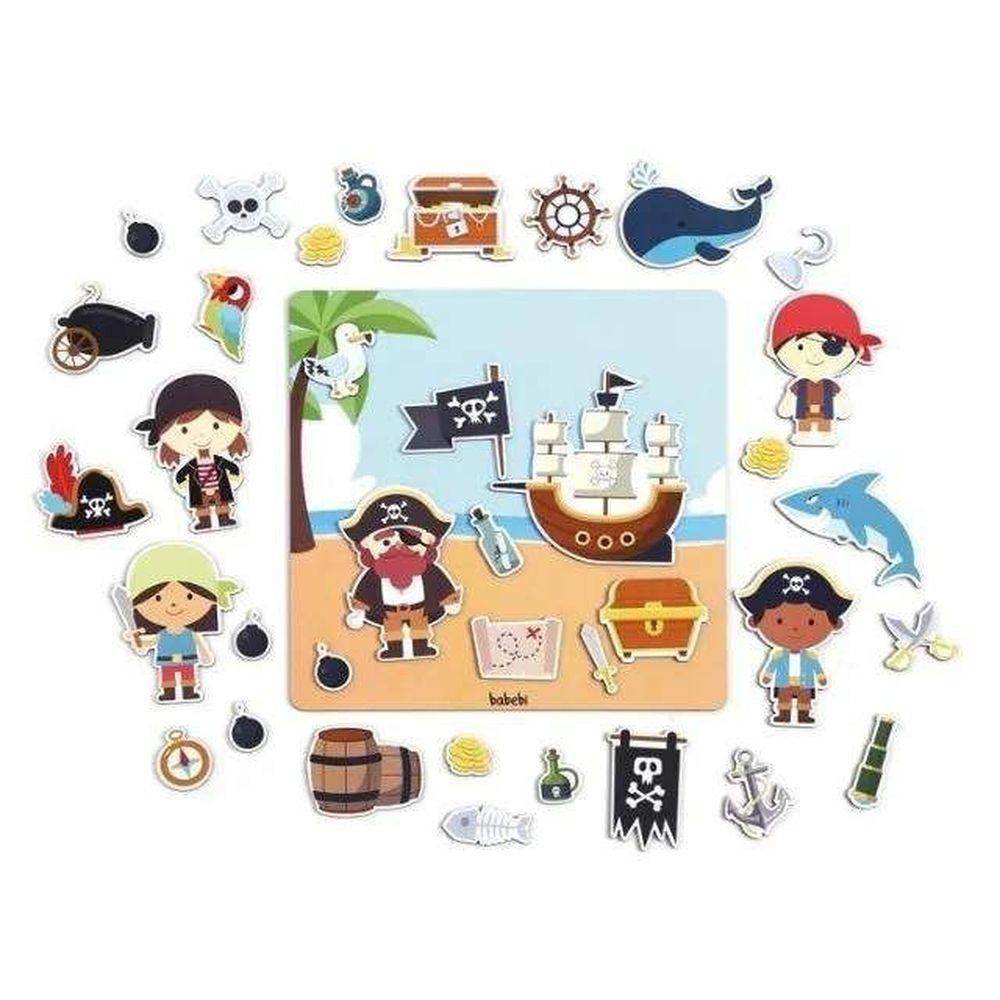 Quadro Magnético Piratas - Babebi