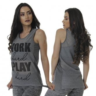 BLUSA FITNESS TELA C/ SILK - WORK HARD