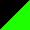 Bicolor Preto/Verde Fluor