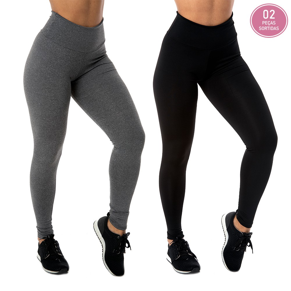 KIT 2 CALÇAS LEGGING BASIC