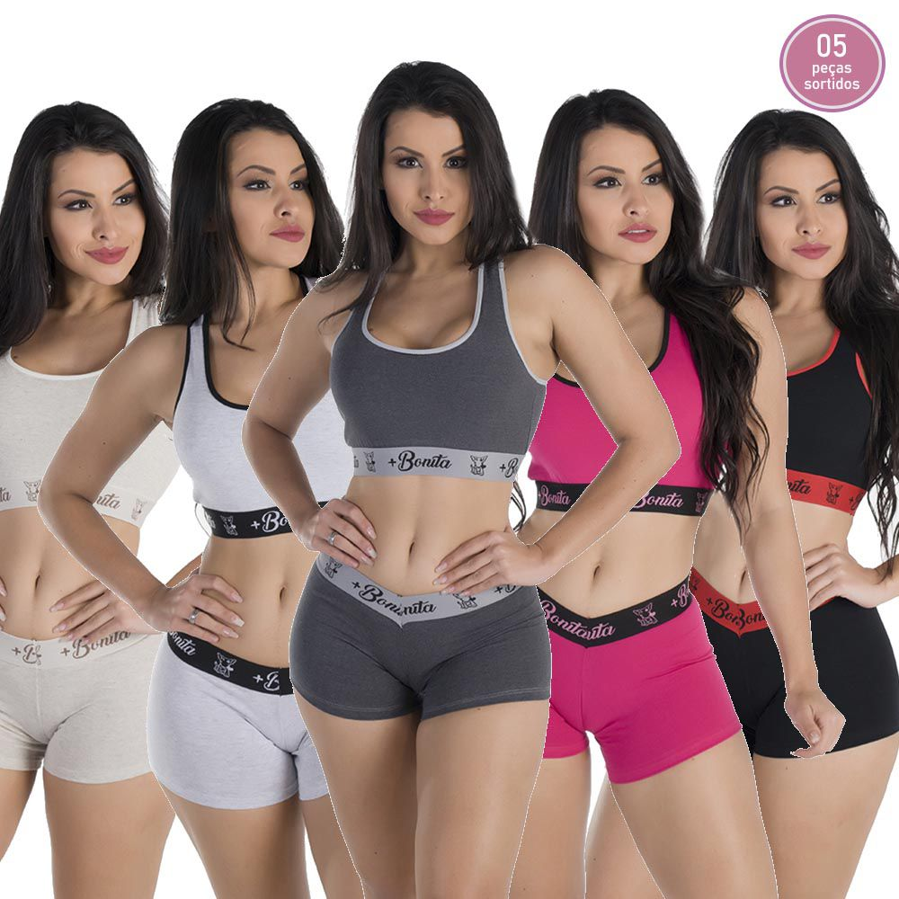 KIT PROMOCIONAL 10 CONJUNTO TOP+SHORT *SORTIDOS*