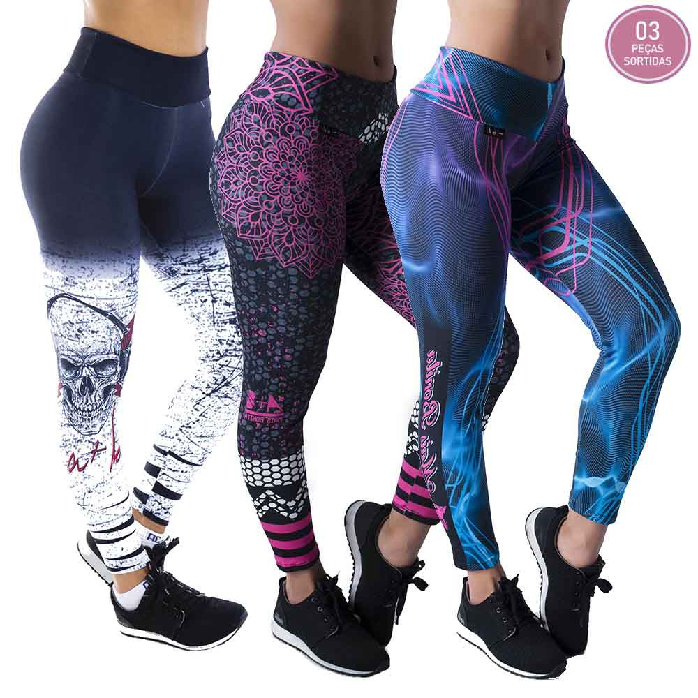 KIT PROMOCIONAL 03 LEGGINGS SUBLIMADAS *SORTIDOS*