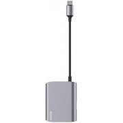 Adaptador Type-C para VGA + USB 3.0 Baseus HUB Azul
