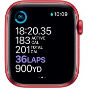 Apple Watch Series 6 Novo 44 mm (GOLD PINK SAND SPORT, RED ALIMINUM CASE RED SPORT BAND)