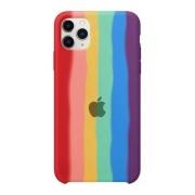 Capa Arco Íris de Silicone Compatível com iPhone 11 Pro Max