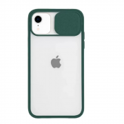 Capa Com Proteção Para Câmera Verde Compatível com iPhone XR
