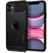 Capa para iPhone 11 Rugged Armor Matte Black Spigen