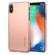 Capa Thin Fit Spigen Blush Gold Compatível com iPhone XS Max