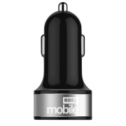 Carregador Metal USB Turbo Veicular 4.8 Preto
