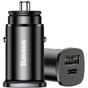 Carregador Veicular Baseus USB + USB-C