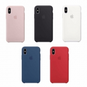 Capa Colorida de Silicone Compatível com iPhone X/XS