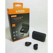 Fone Bluetooh Earbuds Kaidi Kd912 Tws Charging Case