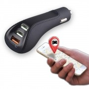 USB car charger locator 6.4A turbo