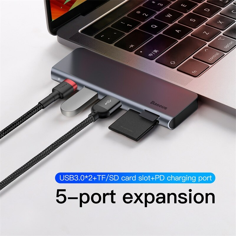 Adaptador 5 em 1 Para Macbook Hub Baseus