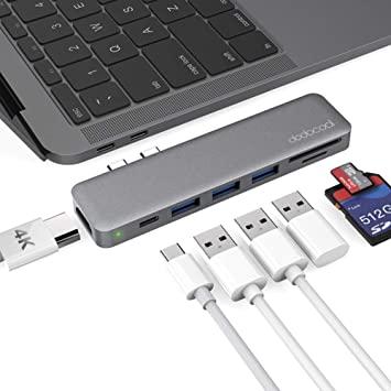 Adaptador HUB Tipo C para Macbook Pro Multiporta 5 em 1 USB Thunderbolt Baseus