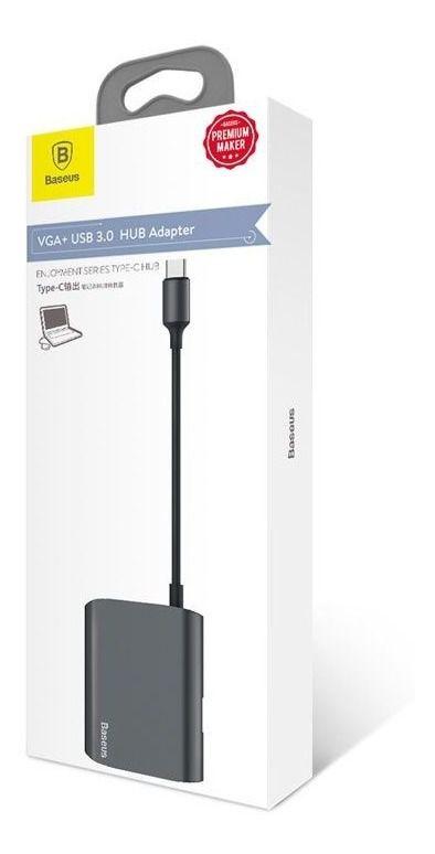 Adaptador Type-C para VGA + USB 3.0 Baseus HUB