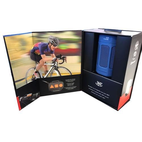 Caixa de Som Portátil Max Box Azul Sem Fio