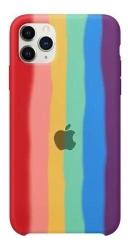 Capa Arco Íris de Silicone Compatível com iPhone 12/12 Pro